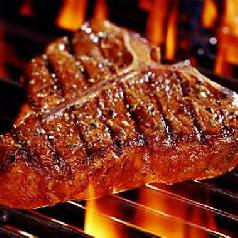 tbone steak on grill
